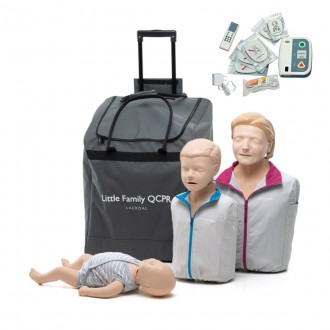 Fantomy Laerdal Little Family QCPR + defibrylator szkoleniowy XFT-120C+