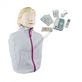 Fantom osoby dorosłej Laerdal Little Anne QCPR + defibrylator...